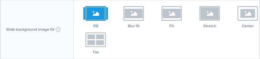 Slider settings - General (Slide background image fill