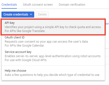 Getting your Google API key - Nose Graze