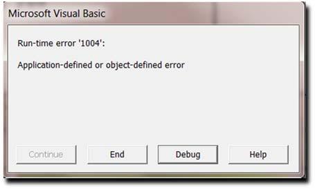 Microsoft Visual Basic: Runtime Error '1004' - CogniView