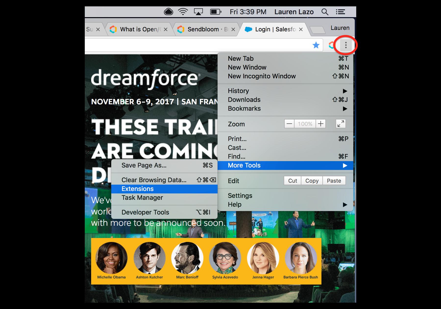 Where did my Chrome extension / Sendbloom button go? - Sendbloom