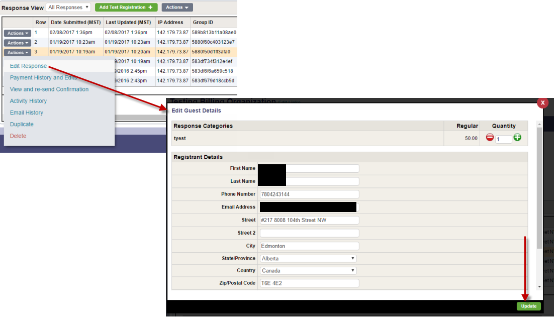Recording payments by cheque or cash - InviteRight