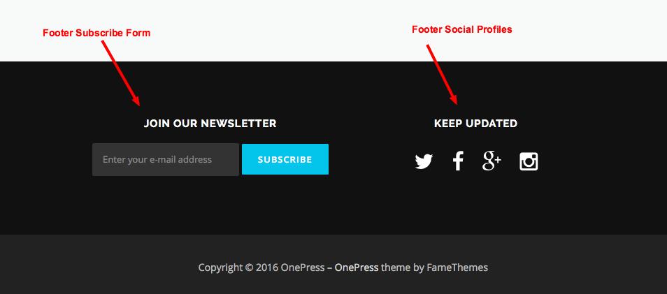 OnePress Documentation - FameThemes Documentation
