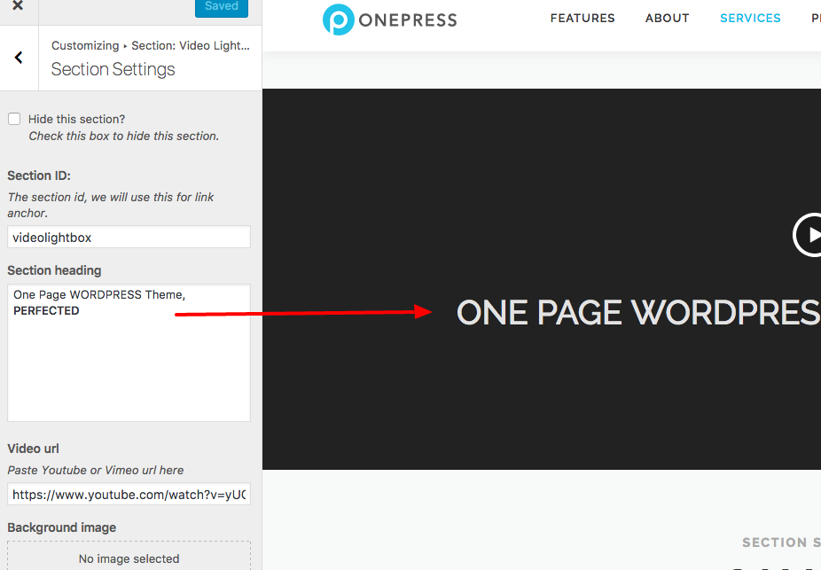 OnePress Documentation - FameThemes Documentation