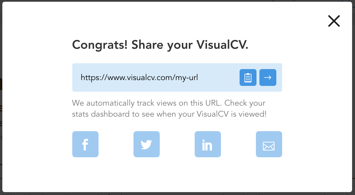 How Do I Share My Resume Visualcv Knowledge Base