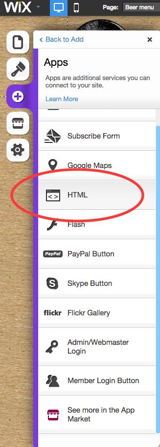 Wix HTML App