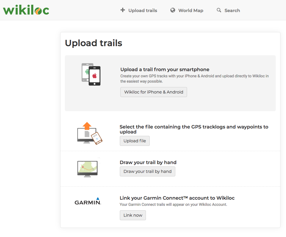 How to upload a trail from the Web? - Wikiloc Help