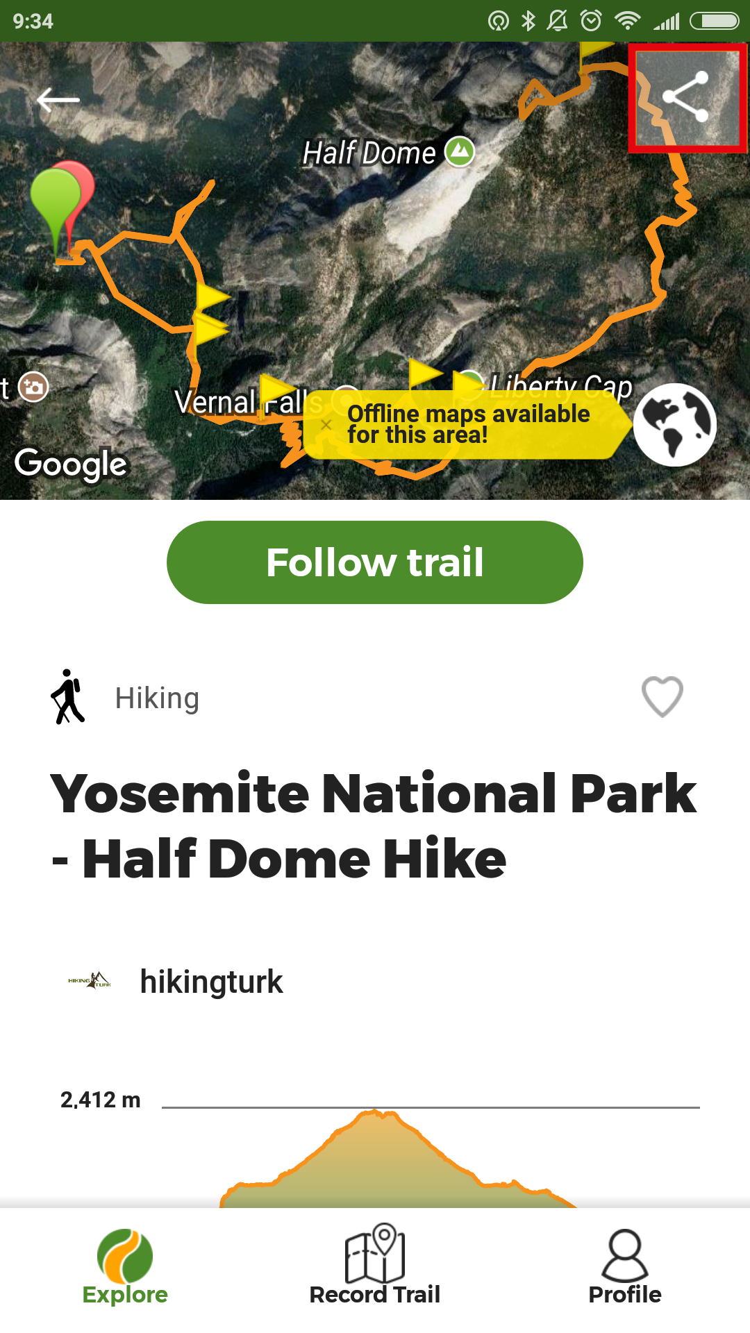 How to share and export trails from the App? - Wikiloc Help