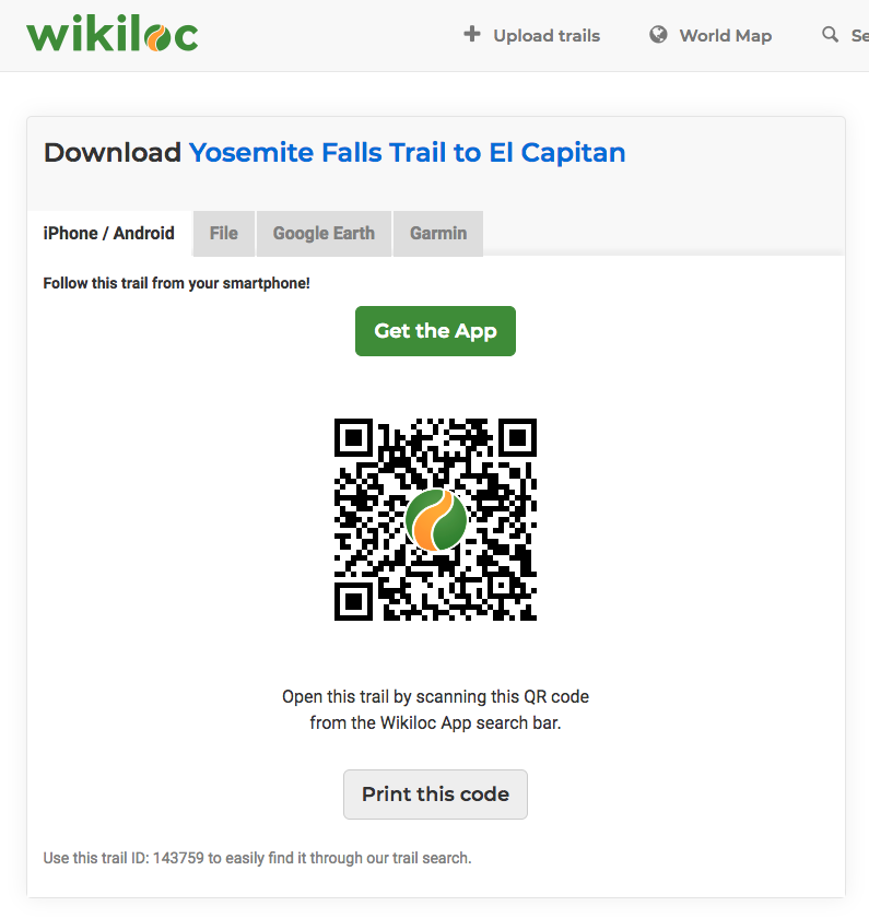 How to download trails from the Web? - Wikiloc Help