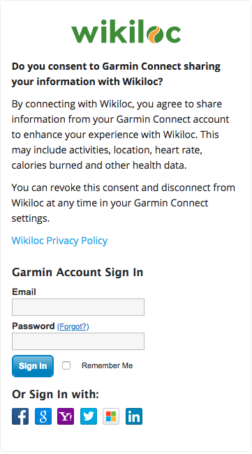 Upload trails automatically from Garmin to Wikiloc (Garmin Connect