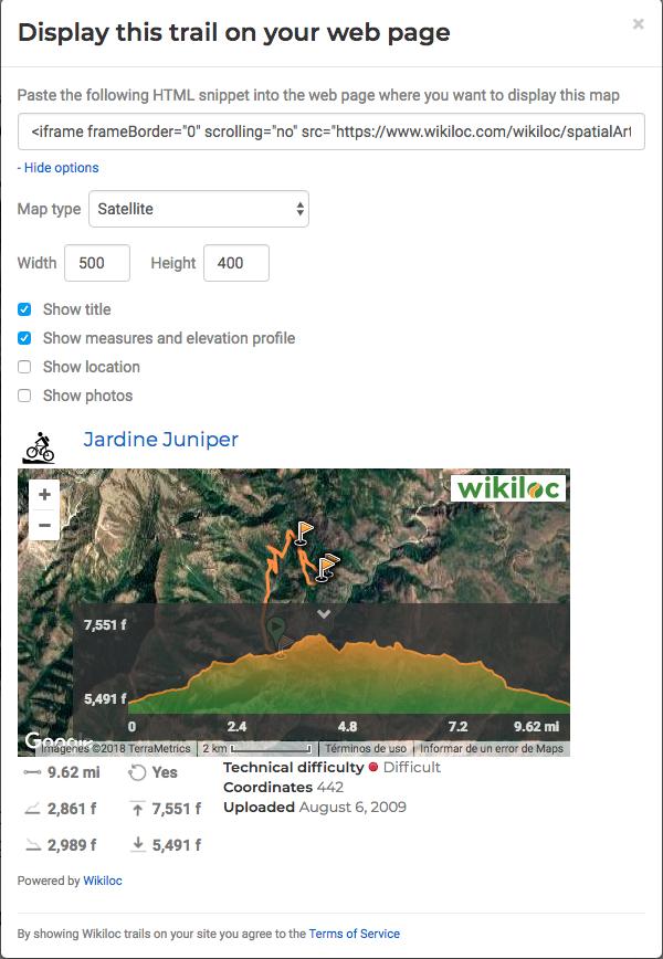 mappe da wikiloc