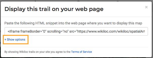 Share a Wikiloc trail on a web - Wikiloc Help