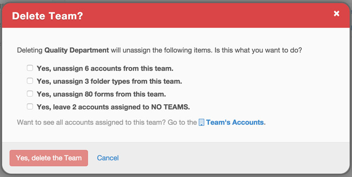 Teams Delete