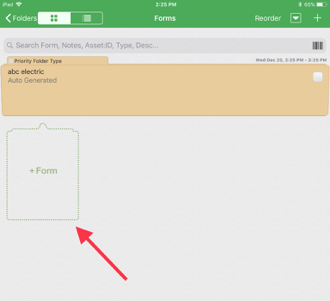 Scheduling a Folder and Add Forms - Mobile - InspectAll Support