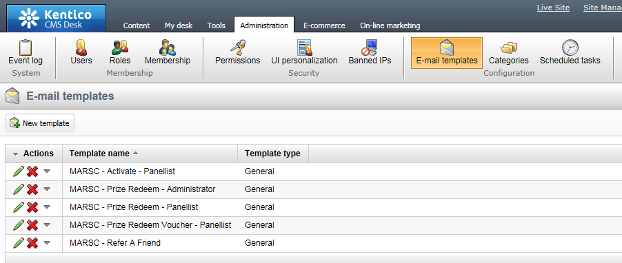 Managing Emails In Kentico 7 Quenchtec Support