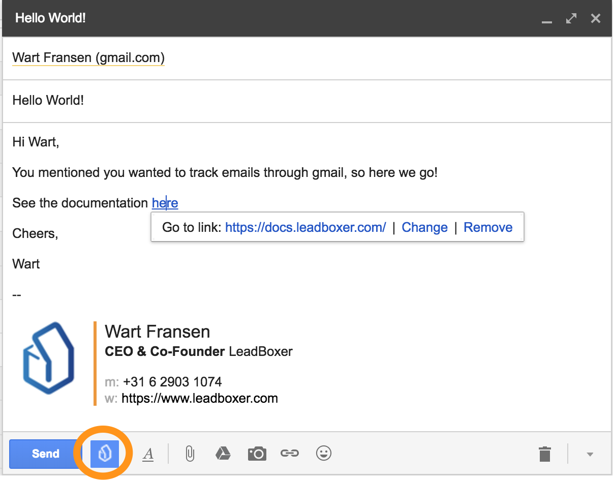 Gmail Email tracking - LeadBoxer Knowledge Base