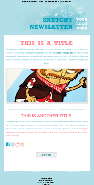 example newsletter theme for download