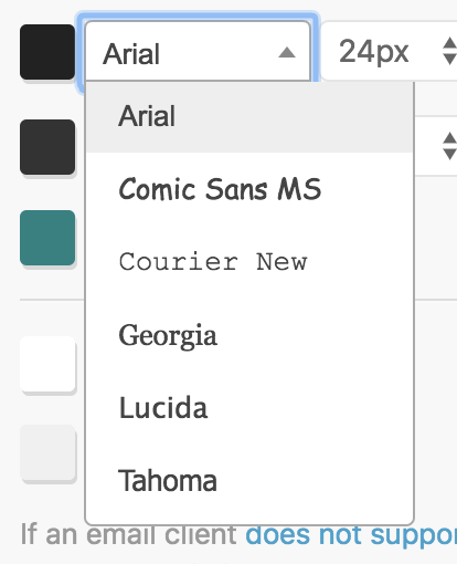 Which Fonts Can Be Used in MailPoet? - Docs for MailPoet
