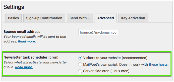 Incompatible Hosts with the MailPoet Task Scheduler - Docs