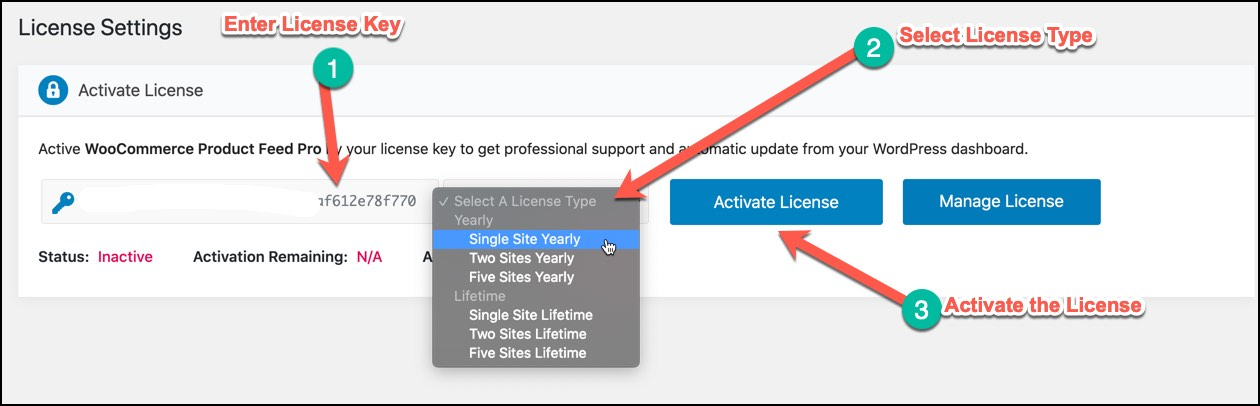 activate license for WebAppick Plugins