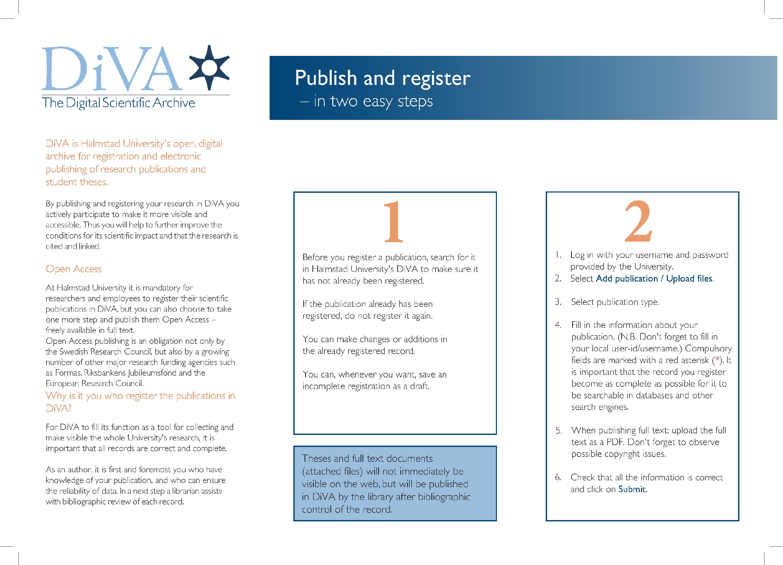 DiVA Folder – Quick Start Guide - Scientific Publishing Knowledge Base