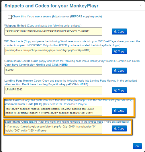 MonkeyPlayr Code for Membership Site Integration - Monkey