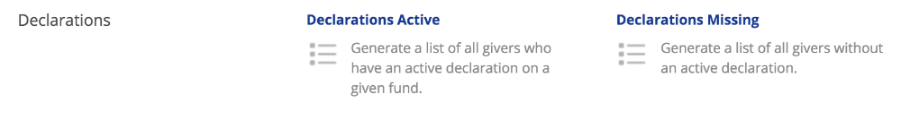 Managing your gift aid declarations uk only churchsuite support running the declarations missing report you can view all active givers without a current gift aid declaration on file from here you can tag those negle Images