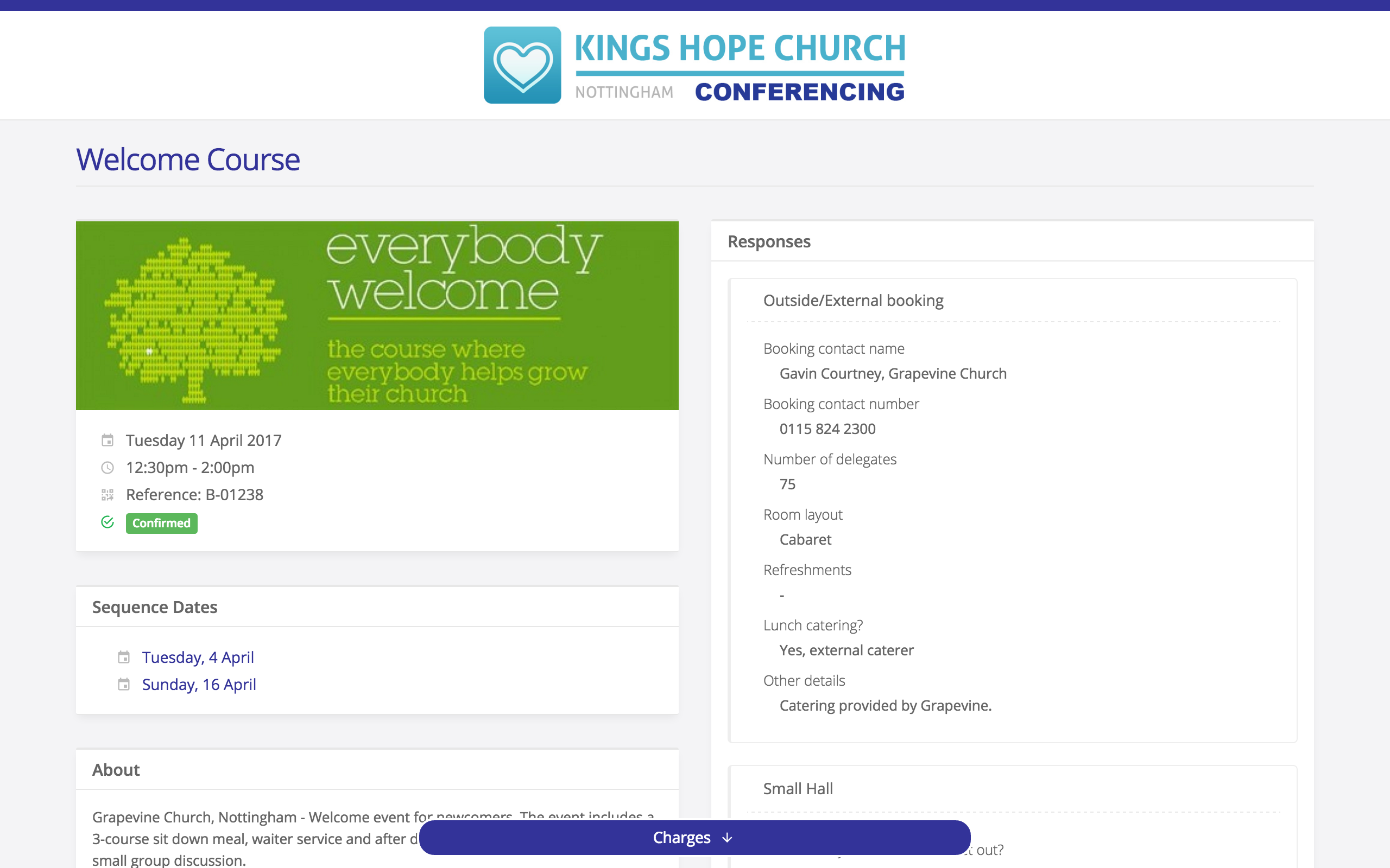 Booking Charges ChurchSuite Support Articles - Invoice recipient meaning