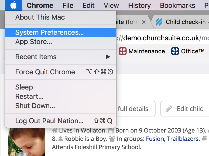 Child check-in - configuration guide - ChurchSuite Support Articles