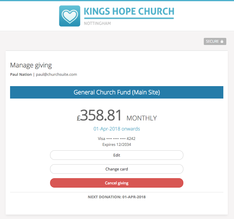 Accepting online donations using Donate - ChurchSuite Support Articles