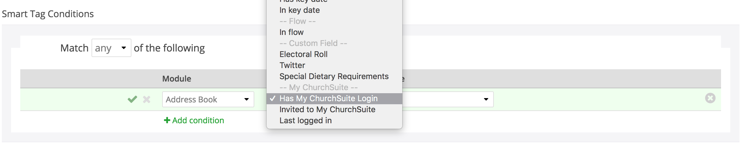 4 send my churchsuite invites to your church members churchsuite usage of your church members when using a smart tag located in the address book module conditions are options for has my churchsuite login stopboris Images