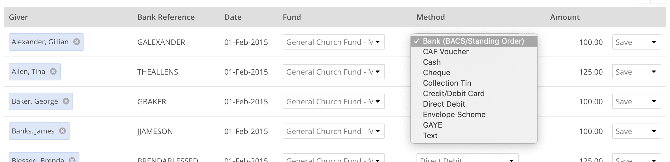 Adding or importing donations - ChurchSuite Support Articles