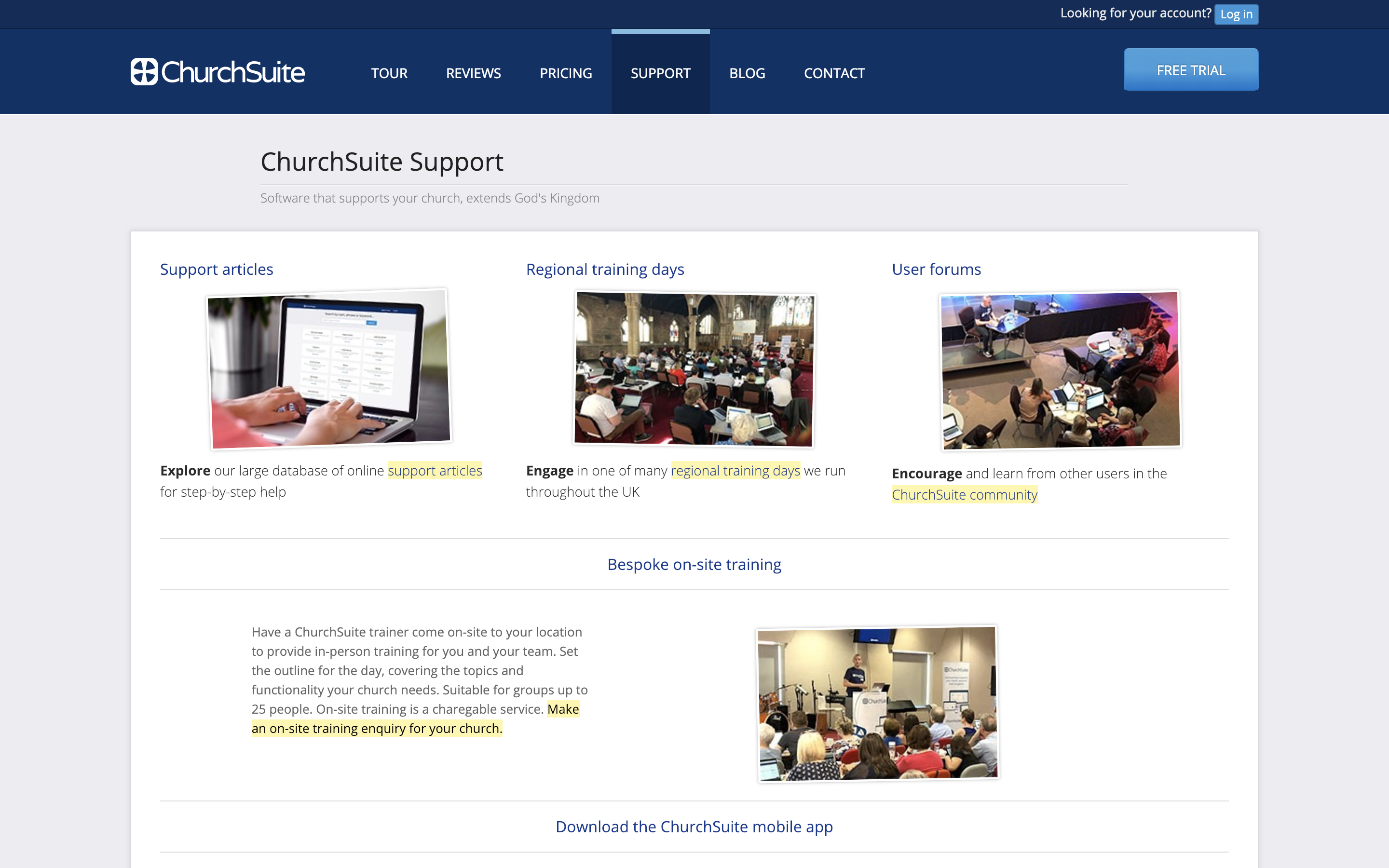 Getting help - ChurchSuite Support Articles