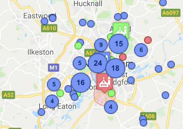 Viewing people's locations on a map - ChurchSuite Support Articles on