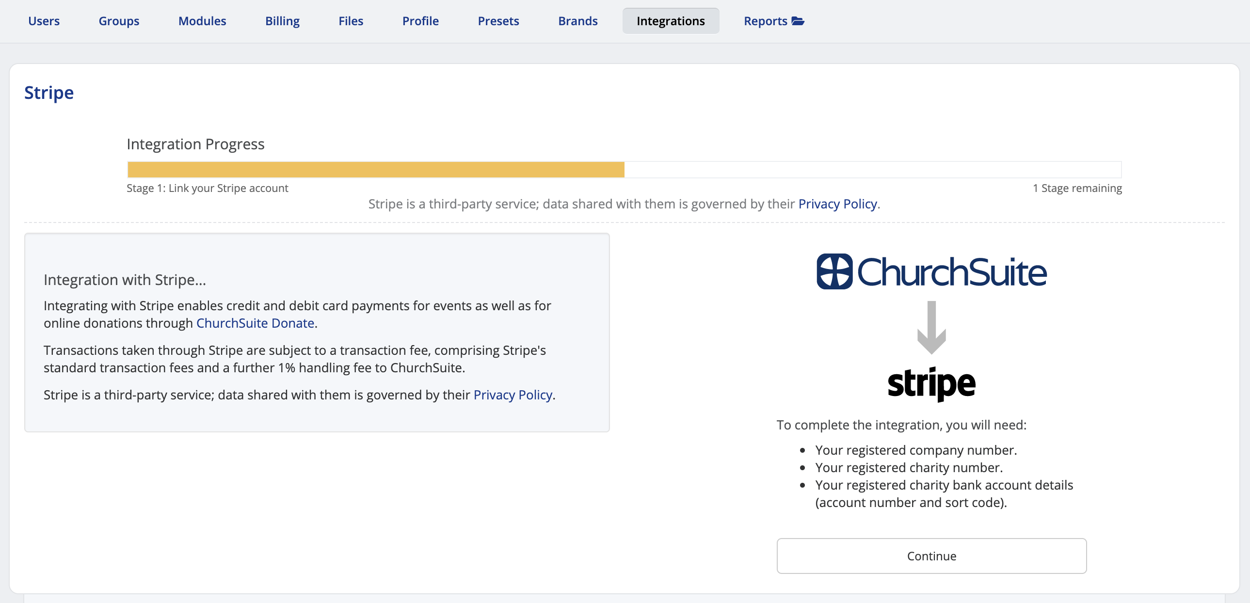 Integrating Stripe for online payments - ChurchSuite Support Articles
