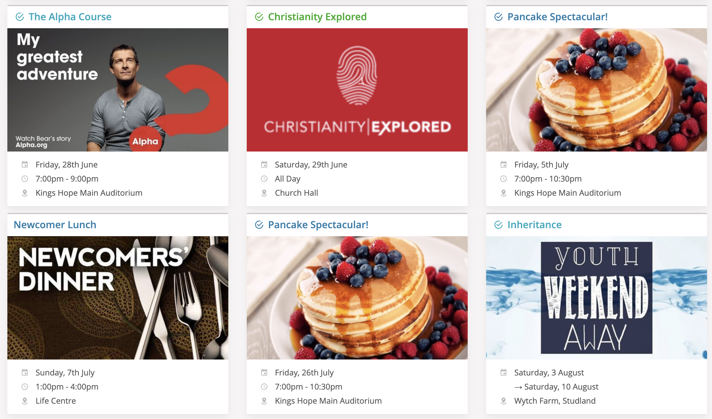 Embed events in your website - ChurchSuite Support Articles