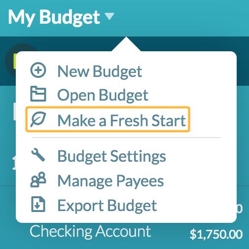 my budget file