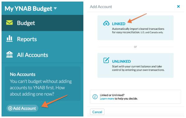 Linking an Account - YNAB Help