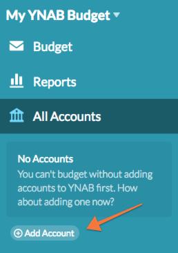 quick start step 2 add your accounts ynab help