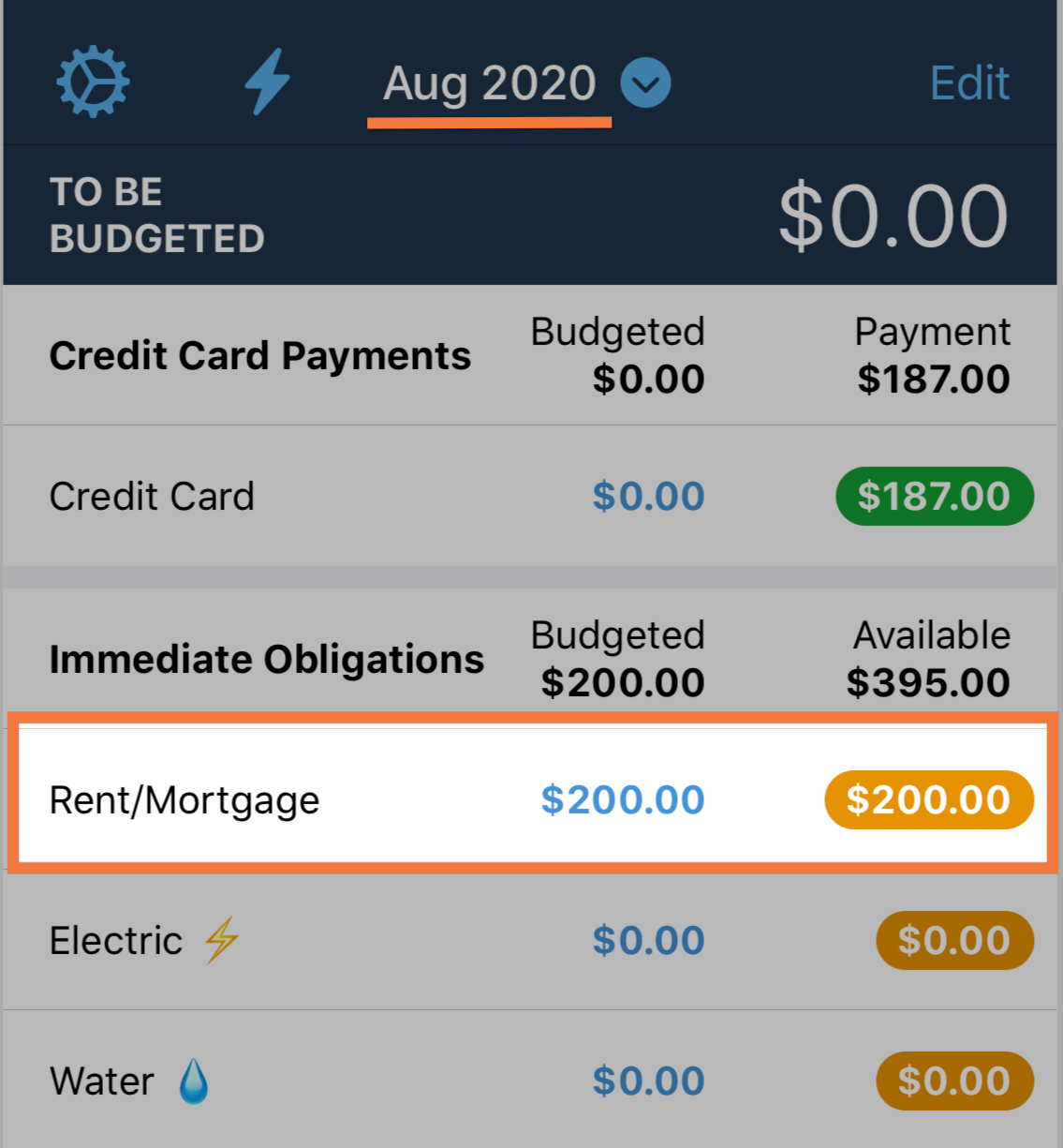 When you're in the future month, add the dollars to a category until it's zero. You've budgeted in the future month!