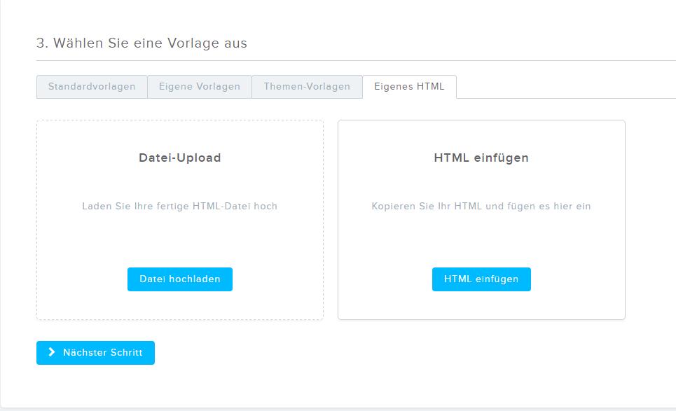 Wie kann ich mein eigenes HTML als Vorlage nutzen? - Newsletter2Go DE