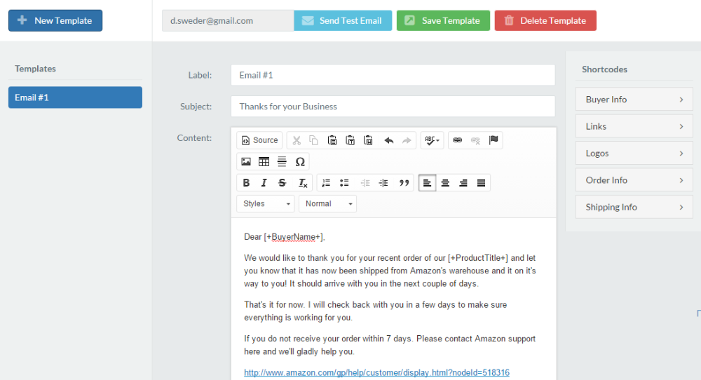 Customize the automatic email messages to students and users.