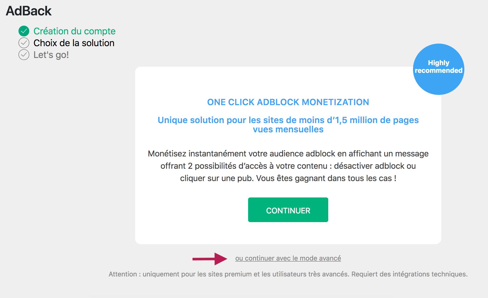 Connecteur Google Analytics Adback