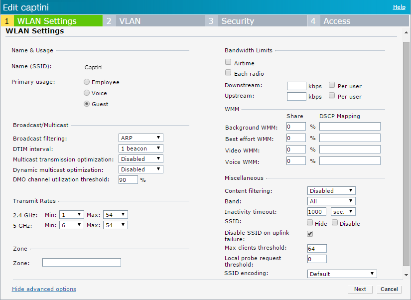 Aruba Instant (IAP) configuration guide - Partner Zone