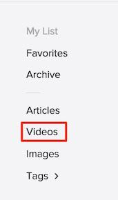 Saving and Viewing Videos in Pocket - Pocket Support