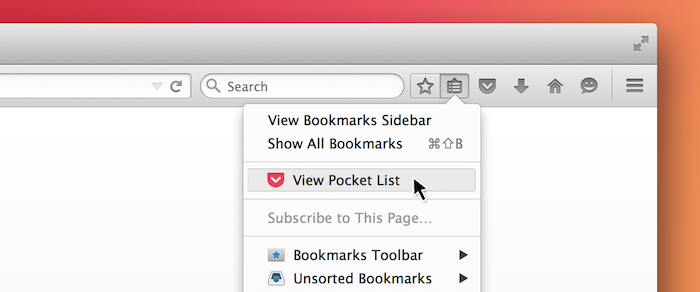 saving to pocket and accessing your list in firefox pocket support