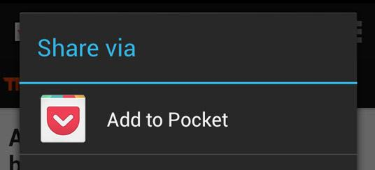 saving to pocket on android pocket support rh help getpocket com share pocket email share bucket list