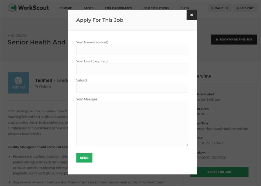 setting up apply for job purethemes net knowledge base