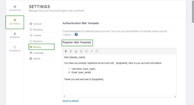 Dne Emails Management Enginethemes Knowledge Base