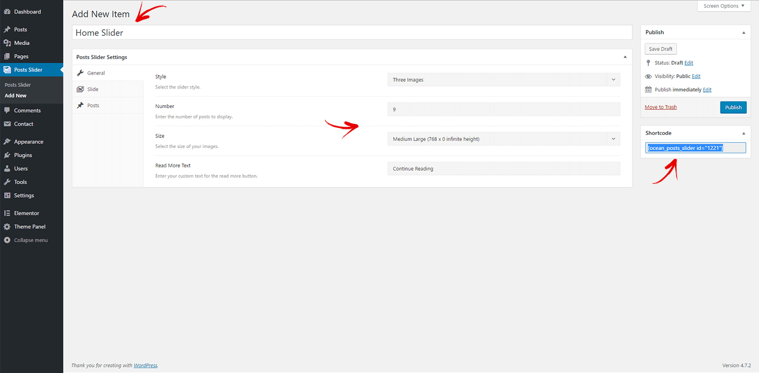 Display the Latest Posts in Slider - Documentation