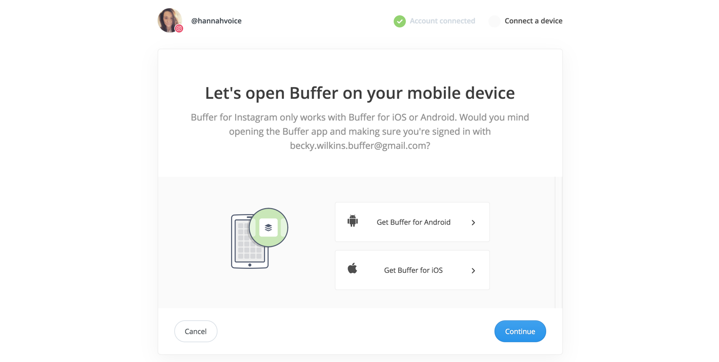 How to connect the buffer